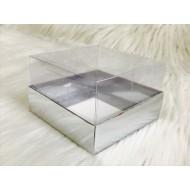 10x10x6 Asetat Kapaklı Kutu Metalize