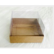 10x10x6 Asetat Kapaklı Kraft Kutu