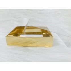 10x10x3 Asetat Kapaklı Kutu Metalize