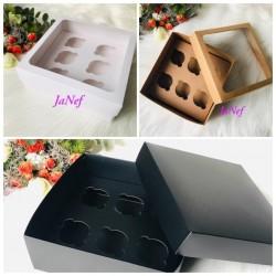 Pencereli Karton(Cupcake)Kutusu 25x25x10
