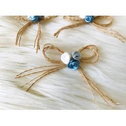 Jüt Çiçekli Fiyonk Mavi