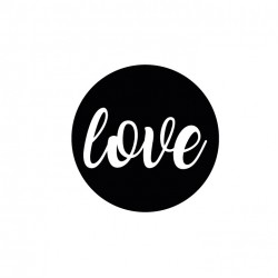 Sticker,Love (siyah)