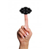 Şeffaf Sticker,Vintage Design (siyah)