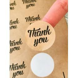 Kraft Sticker,Thank You