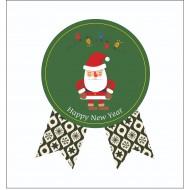 Sticker, Noel Baba (yeşil)