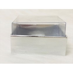 5x5x3 Asetat Kapaklı Kutu Metalize