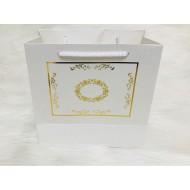 Karton Çanta Beyaz (Desen 2)