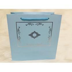 Karton Çanta Mavi (Desen 1)
