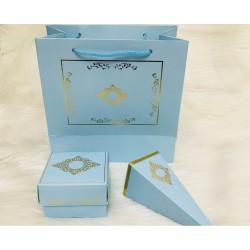 8x8x5 Karton Kutu Mavi (Desen 1)