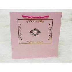 Karton Çanta Pembe (Desen 1)