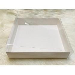 33x33x7 Asetat Kapaklı Kutu Beyaz