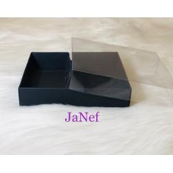 12x12x3 Asetat Kapaklı Kutu Siyah