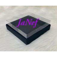 15x15x5 Asetat Kapaklı Kutu Siyah