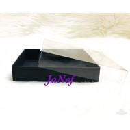 15x15x3 Asetat Kapaklı Kutu Siyah