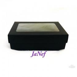 Pencereli Karton Kutu Siyah 10x15x5