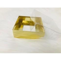 8x8x3 Asetat Kapaklı Kutu Gold