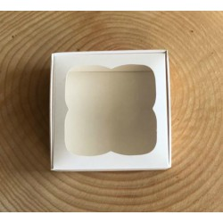 9x9x3 Pencereli Kutu Beyaz