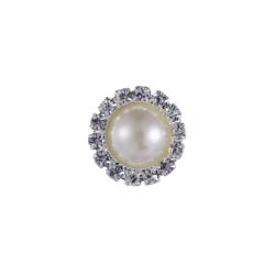 Kristal Taşlı İnci 25 mm