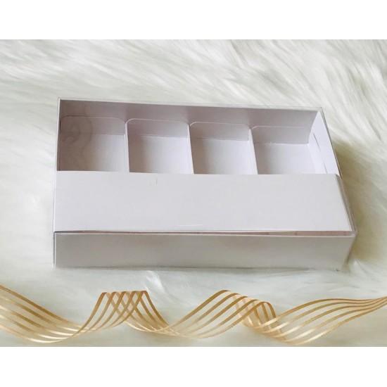 4 Bölmeli Asetat Kapaklı Kutu
