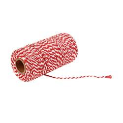 Renkli Paket İpi Kırmızı-Beyaz