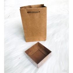 Karton Çanta Kraft (17x11x4,5)