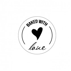 Şeffaf Sticker,Baked Wıth Love