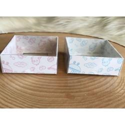 8x8x3 Asetat Kapaklı Kutu Bebek (Beyaz Zemin)