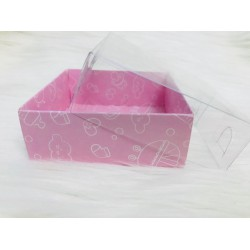 8x8x3 Asetat Kapaklı Kutu Bebek Desen