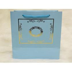 Karton Çanta Mavi (Desen 2)