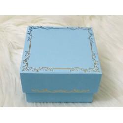 8x8x5 Karton Kutu Mavi (Desen 3)