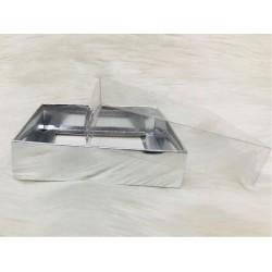 12x12x3 Asetat Kapaklı Kutu Metalize