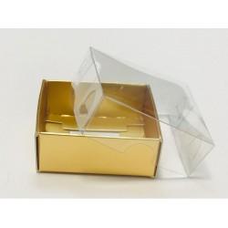 5x5x2,2 Asetat Kapaklı Kutu Metalize