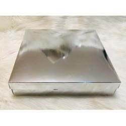 Karton Kutu Gümüş 33x33x7