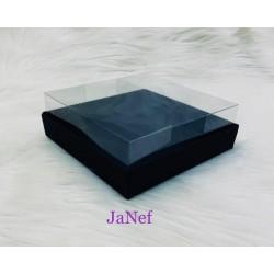 12x15x5 Asetat Kapaklı Kutu Siyah