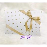 Yastık Kutu Yaldız Puantiyeli (15,5x15x4 cm)
