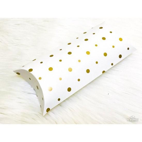 Yastık Kutu Yaldız Puantiyeli  (11x20x5 cm)