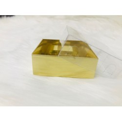 6x6x2,2 Asetat Kapaklı Kutu Metalik