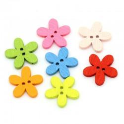 Ahşap Çiçek Düğme