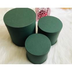Silindir Hediye Kutusu Yeşil